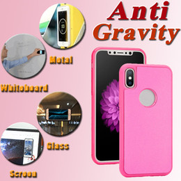 Wholesale Gravity Anti - Glitter Bling Anti Gravity Selfie Magical Nano Sticky Antigravity Wall Case Cover For iPhone X 8 7 Plus 6 6S Samsung S8 Plus S7 edge Note 8