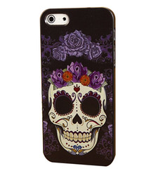 Wholesale Skull Hard Case - Wholesale Painting Skull Luxury Style Hard Plastic Mobile Phone Case Cover For iPhone 4 4S 5 5S 5C 6 6 Plus