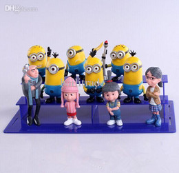 Wholesale Margo Despicable Toys - Wholesale-10pcs set Despicable Me Minion Gru Margo Edith PVC Figure Toys Christmas Gift For Children