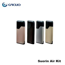 Wholesale Electronic Cartridge - Authentic Suorin Air Starter Kits 16W 400mah Battery and 2ml Cartridge 100% Electronic Cigarette ecigs Kit
