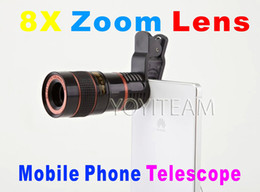 Wholesale 8x Zoom Mobile Phone Telescope - mobile phone universal telescope 8X zoom lens black color for iphone samsung smart phones