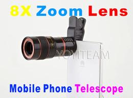 Wholesale Zoom 8x Phone - mobile phone universal telescope 8X zoom lens black color for iphone samsung smart phones