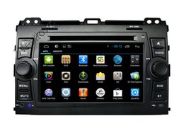 Wholesale Dvd For Prado - Auto dvd gps navigation system car dvd cd player built in dual core wifi radio audio fit for Toyota old prado 120