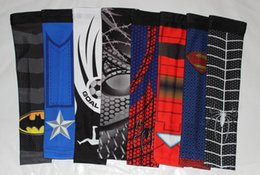 Wholesale Sleeves Spider - New arrival new design batman superman, spider cycling arm sleeve ciclismo men bicicleta arm warmers