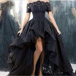 Celebridade vestidos de noite vestidos de baile on-line-2016 new sexy preto lace vestidos de noite vestido de baile do assoalho-comprimento off-the -shoulder vestidos longo celebridade vestidos de baile WD170