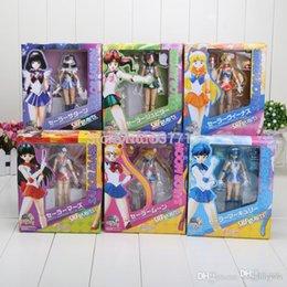 Wholesale Japanese Caps - 15cm 6inches Japanese Anime Sailor Moon Mercury Mars Venus PVC Action Figure Toy children's Christmas gifts