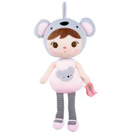 Wholesale Wholesale Panda Bear Plush - Wholesale- Metoo Plush Doll Toys Humanoid Appearance With Kawaii Cute Lovely Animal Bear Panda Pattern Best Gift for Girl
