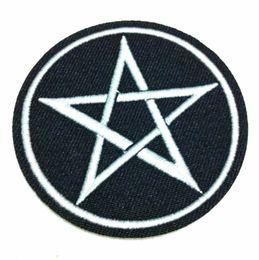 Wholesale Rock Patches - Wholesales~10 Pieces Five Star (6.5 cm x 6.5 cm) Punk Rock Embroidered Iron on Applique Patch (B)