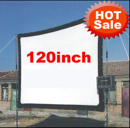 Wholesale Hd Lcd Led - Wholesale-Cheaper 120inch 16:9 Without frame can be fold Portable canvas fabric screen for HD led LCD UC30 UC40 UC80 ATCO Projector Beamer