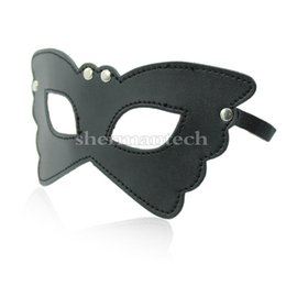 Wholesale Masks Butterflies - Flexible soft bondage gears butterfly wing lady face mask leather venetian masquerade mask for party