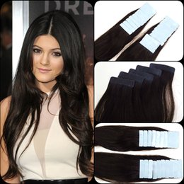 """Wholesale 5a Remy Hair - 2# Darkest Brown Pu Skin Weft Hair brazilian 12-26"""" Strong Blue Lace Tape Remy Human Extensions 5A 20pcs,2.5g pc"""