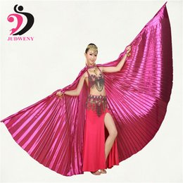 Wholesale Egyptian Belly Dance Wings - 11 Colors Best Price Angle Wings Egyptian Bellydance Belly Dance Wings Costume Isis Wings (no stick)