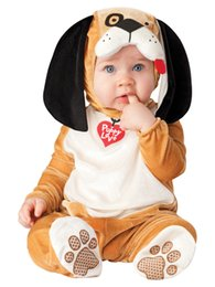 Wholesale Tiger Dress Costume - Lovely Animal Halloween Outfit for Baby grow Infant Boys Girls Baby Fancy Dress Cosplay Costume Dog Tiger Leopard