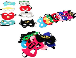 Wholesale Spiderman Masks For Kids Wholesale - Superhero mask Cosplay Superman Batman Spiderman Hulk Thor IronMan Princess crown Halloween Christmas kids adult Party Costumes cloth Masks