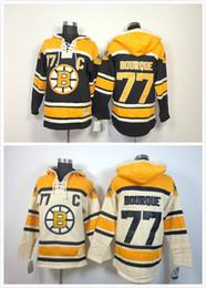 Cheap Bruins Ice Hockey Jersey Hoody Men  77 Ray Bourque Hoodies Hooded  Sweatshirt 91c69f282