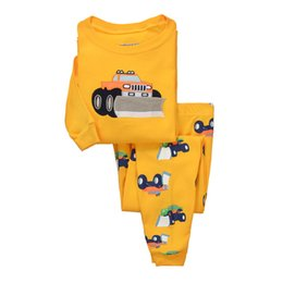 Wholesale Baby Clothes Car Cartoon - Baby Clothes 2 Pieces Set Cars Cartoon Longe Sleeve Baby Sleepwear Home Clothing Underclothes For Chrildren Pajamas