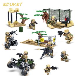 Wholesale Enlighten Brick Military - 2017 new educational military field Army Soldiers Compatible Building blocks Weapon Bricks action figures enlighten toys for children kid