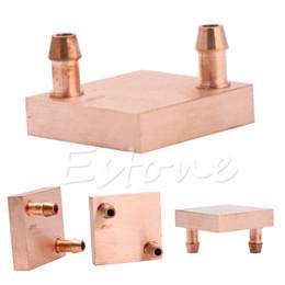Wholesale Wholesale Copper Sinks - Wholesale- Copper Water Cooling Block For GPU CPU Radiator Liquid Heatsink Heat Sink Cooled