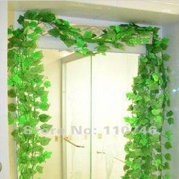 Wholesale Grape Leaves - Beautiful Green Grape Leaves Vine 24 Piece Lot, Ivy Simulation Plastic Flower Artificial Plants For Wedding Home Decor