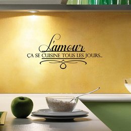 Wholesale Vinyl Wall Quotes For Kitchen - Love Home French Kitchen Wall Stickers , Kitchen Decorative Quotes Vinyl Wall Stickers French Home DecorationFQ0024