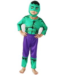 Wholesale Free Role Playing - 3-7years Boy Role-playing cosplay,Halloween costumes Children's Cosplay clothing The Hulk model clothing&Free shipping