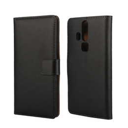 Wholesale Elite Cases - Wholesale Black High Quality Genuine Leather Wallet Cover Case For ZTE Axon Elite (5.5 inch) with Stand Function and Card Holder