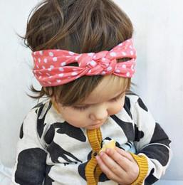 couleur de cheveux de plage Promotion 5 Couleur Princesse Bébé Enfants Plage De Sable Cheveux Bandes Dots Noeud Bandanas Enfant Cheveux Accessoires Bandeaux Band rk778