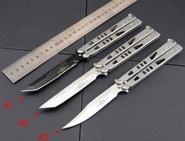 Wholesale New Tanto Knife - New Microtech folding balisong knife Tachyon II Tanto Stainless steel camping microtech hunting flail knives