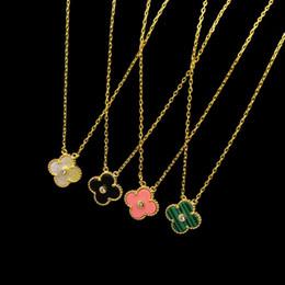 Wholesale Quatrefoil Jewelry - 1.2cm quatrefoil middle drill with multicolor shell agate COPPER NECKLACE exported copper plated jewelry wholesale