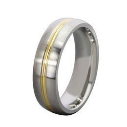 Wholesale Stainless Steel R Jewelry - Titanium Jewelry Mens Ring Stainless Steel Simple Round Ring Wholesale Fashion Jewelry For Men R-055
