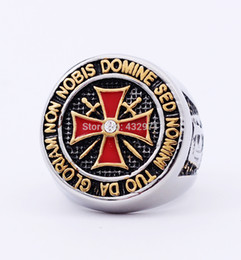 Wholesale Unique Cheap Jewelry - free shipping unique stainless steel knights templar ring jewelry with high quality,custom design cheap wholesale