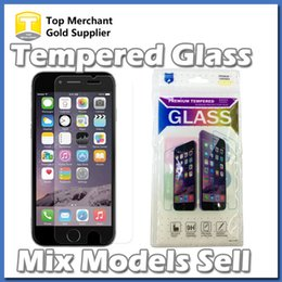 Wholesale Iphone Screen Protector Bag - Mix Models Ultra Thin 0.26 mm 9H Glass Screen Protector For iPhone 7 6s Plus Galaxy S6 S7 Grand Prime G530 LG K7 LS770 stylus opp bags