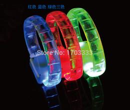 Wholesale Light Up Bracelets Free Shipping - Free shipping 100pcs lot 24*1.5cm 3 modes led bracelet with flavour flashing bracelet light up bracelet for Christmas #RY86