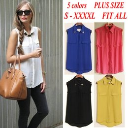 Wholesale Collar Blouse Neck Designs - ST358 New fashion womens' sexy sequined studded collar blouse sleeveless shirt elegant casual brand design tops blusas femininas