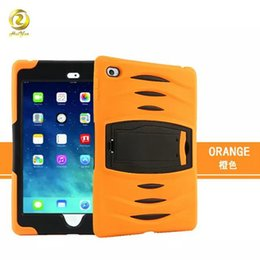 Wholesale Heavy Duty Light Stands - Heavy Duty Shockproof Hard Plastic Soft TPU Case Cover Skin Protector for Ipad Mini 1 2 3 4 with Stand Holder