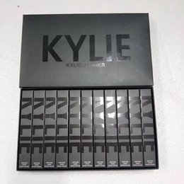 Wholesale Purple Lip Gloss - EPACK Sneak peek Kylie 11 colors New Velvets Liquid Lipstick kit Purple Halloween Lip Gloss Los key Basic Boy Bye Punk DHL shipping