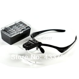 Wholesale Headlamp Magnifying - Free Shipping 5 Lens 1.0X1.5X2.0X2.5X3.5X Head Headband LED Headlamp Lighted Magnifying Magnifier Glass Function Loupe - RUA