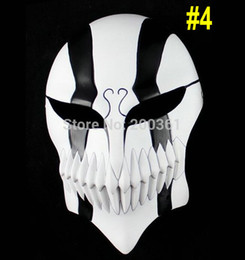 Wholesale Bleach Anime Mask - Wholesale-Resin Japanese cartoon Anime Ichigo Kurosaki Bleach Cosplay full Hollow Head mask adult prop Halloween Masquerade Party Costume