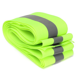 Wholesale Green Safety Tape - New Arrival Lime Green Reflective Safety Fabric Tape Vest Trim Strip Sew On order<$18no track
