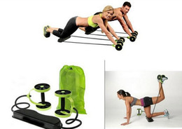 Wholesale muscle building gym - Revoflex Xtreme abdominal trainer ab trainer exercise work out gym Ab Rollers Fitness Equipments muscle building
