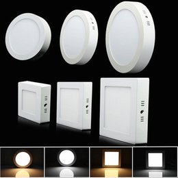 Wholesale Surface Mount Bright White Led - Non- dimmable 6W 12W 18W 24W Super Bright Square LED Ceiling Light Surface Mounted LED Panel down Lights for home illumination