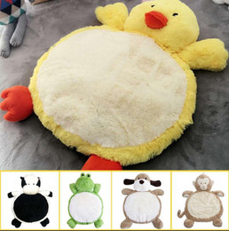 Wholesale dog gym - Child Climb Pad 90*60cm Cute Dog Animals Plush Baby Play Mats Kids Gym Mat Children Developing Carpet Toy 10pcs OOA3667