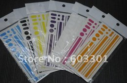 Wholesale Iphone Bumpers Pack - Wholesale-Mixed Color Side Bumper Insulation Sticker for iPhone 4G, For iPhone 4G side sticker, for iPhone 4G side skin, retail packing