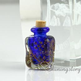 Wholesale Glass Blown Pendant Necklace - small glass bottles pendant necklaces small decorative glass bottles hand blown glass jewelry necklace bottle pendants