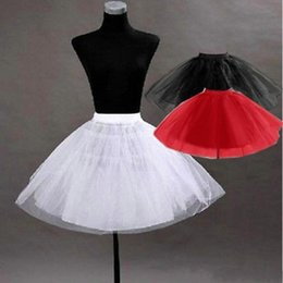Wholesale Short Black Crinoline - New Pretty Tutu Petticoat Underskirt Kid's Accessories In Stock Red Black Girls Pageant Dress Crinoline No Hoop Undergarment Slip CPA274
