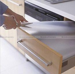 "Forros de cajones online-Al por mayor-ShanghaiMagicBox Clear Drawer Mat 59x12 ""Shelf Liner Cabinet Storage Pad Kitchen 40414328"
