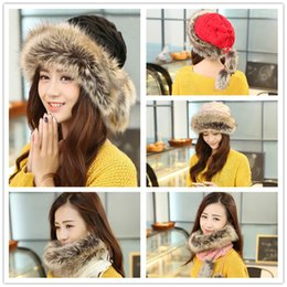Wholesale Wholesale Women S Fashion Beanies - 2015 winter knitting warm wool caps 5 colors women`s knitting hats Fashion Street Hats Fur hats for women LA104-1