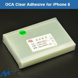 Wholesale Iphone Lcd Digitizer Clear - OCA adhesive double side sticker glue for iPhone 6 4.7 250um optical clear adhesive film LCD Digitizer oca laminator 50PCS Lot