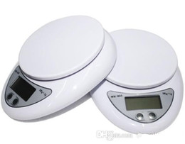 Wholesale 5kg Digital Scale - 60pcs 5000g 5kg x 1g Digital Electronic Kitchen Weighing Scale Diet Food Balance