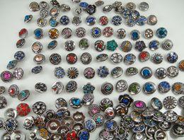 Wholesale Cz Bracelet Connector - mixes fashion High quality cz Rhinestone Alloy Chunk Snap Button charm fit bracelet Jewelry Accessories Wholesale charm cz noosa series 12mm